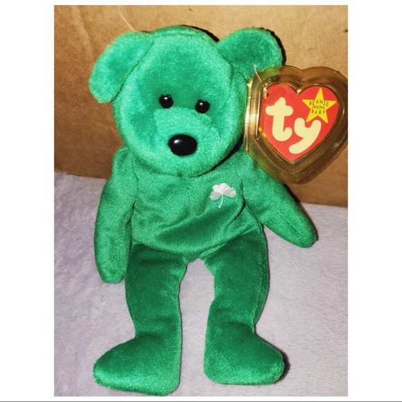 Ty Other - Ty Beanie Erin The Bear 1997 *Rare* ☘️